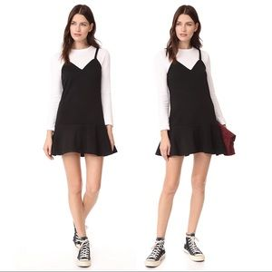 English Factory Ruffle Hem Sweater Dress